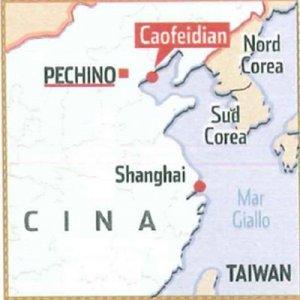 Cartina del luogo. Sorgerà vicino a Pechino e darà la misura spettacolare delle ambizioni della Cina.